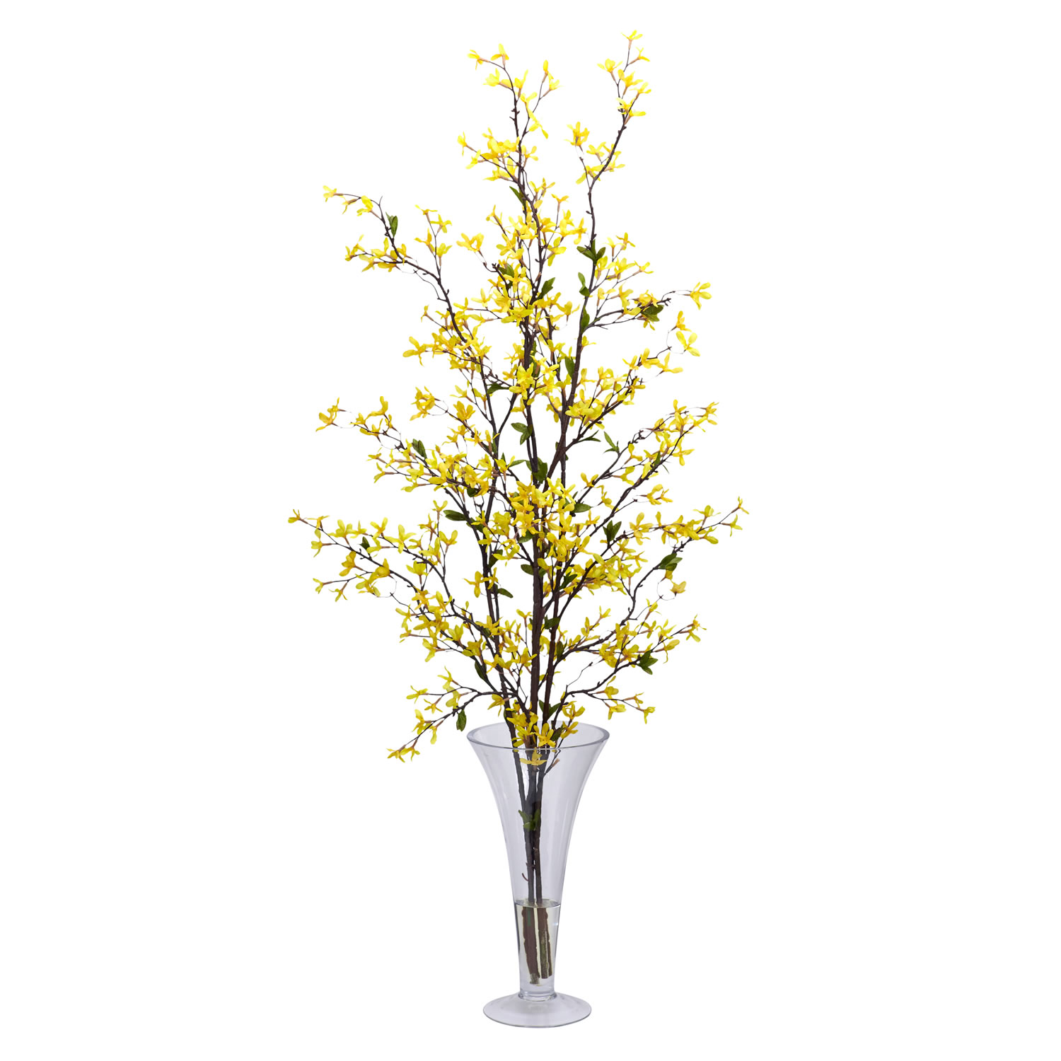 Forsythia wvase silk flower arrangement silk specialties forsythia wvase silk flower arrangement mightylinksfo