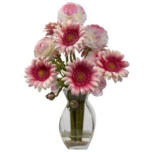 Gerber Daisy & Ranunculus w/Small Reception
