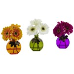Gerber Daisy w/Vase (Set of 3)