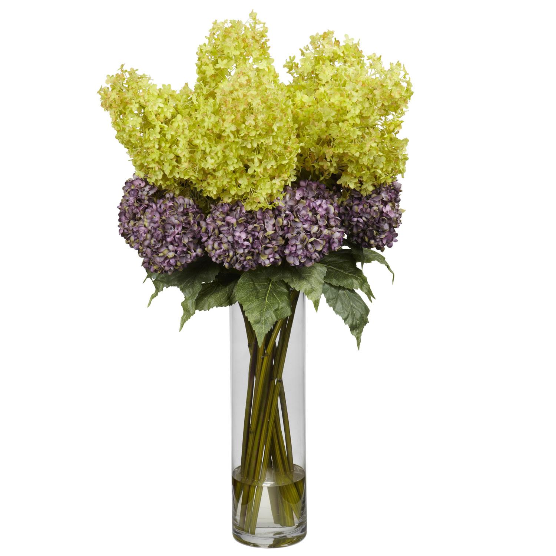 Giant Mixed Hydrangea Silk Flower Arrangement Silk Specialties