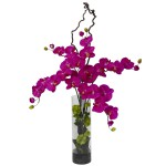 Giant Phalaenopsis & Hydrangea Silk Flower Arrangement