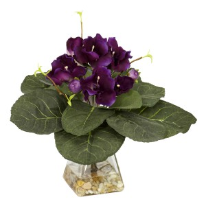 Gloxinia w/Vase Silk Plant