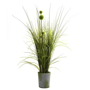 Grass & Dandelion w/Cement Planter