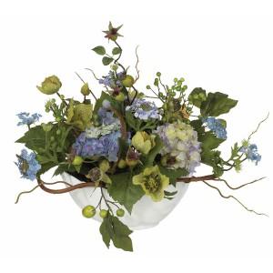 Hydrangea Centerpiece Silk Flower Arrangment