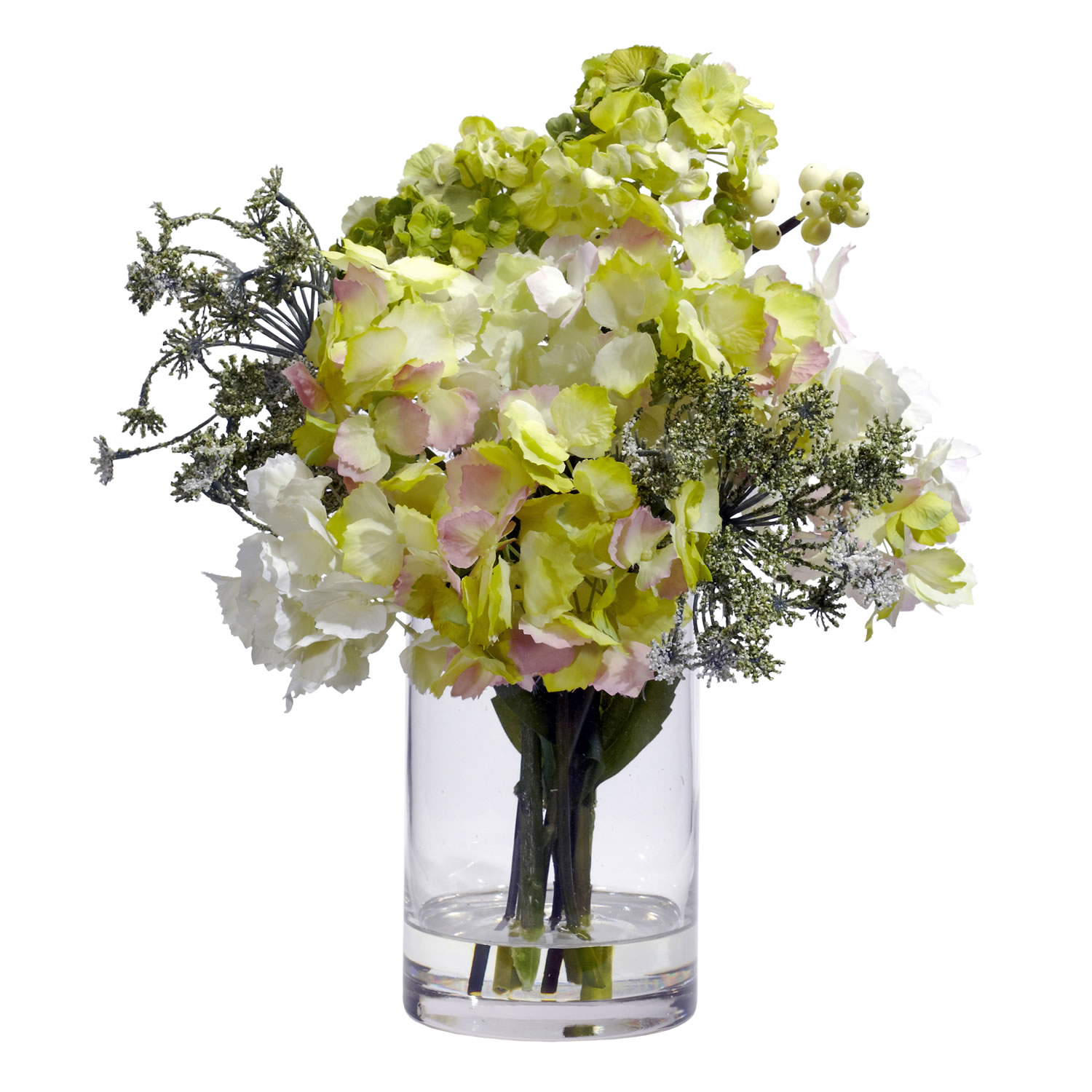 Hydrangea silk flower arrangement silk specialties hydrangea silk flower arrangement mightylinksfo