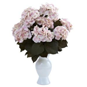 Hydrangea w/White Vase