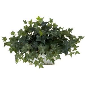 Ivy w/White Wash Planter Silk Plant