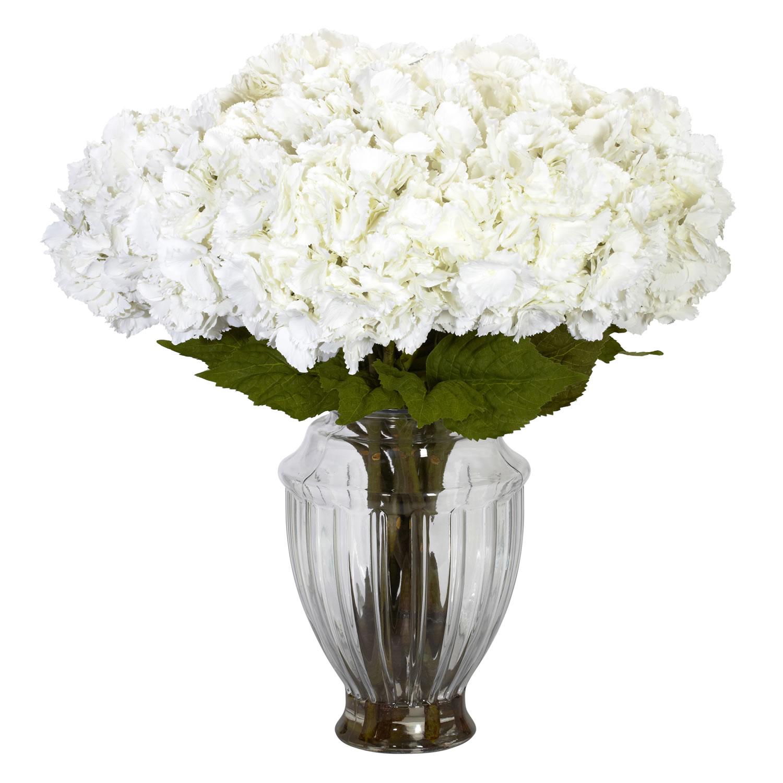 9769bac56596 Large Hydrangea w European Vase Silk Flower Arrangement - Silk ...