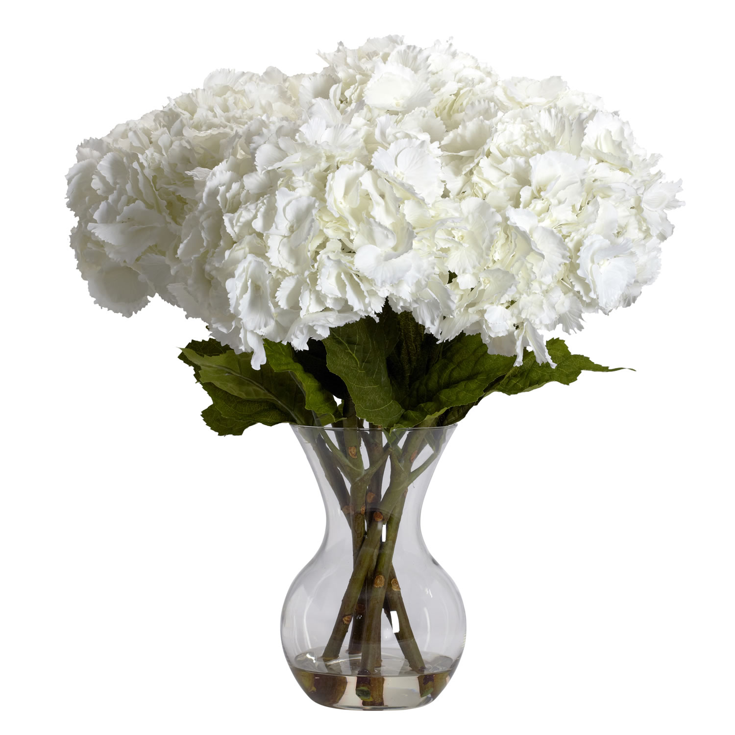 Large Hydrangea W Vase Silk Flower Arrangement