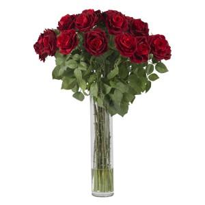 Large Rose Silk Flower Arrangement