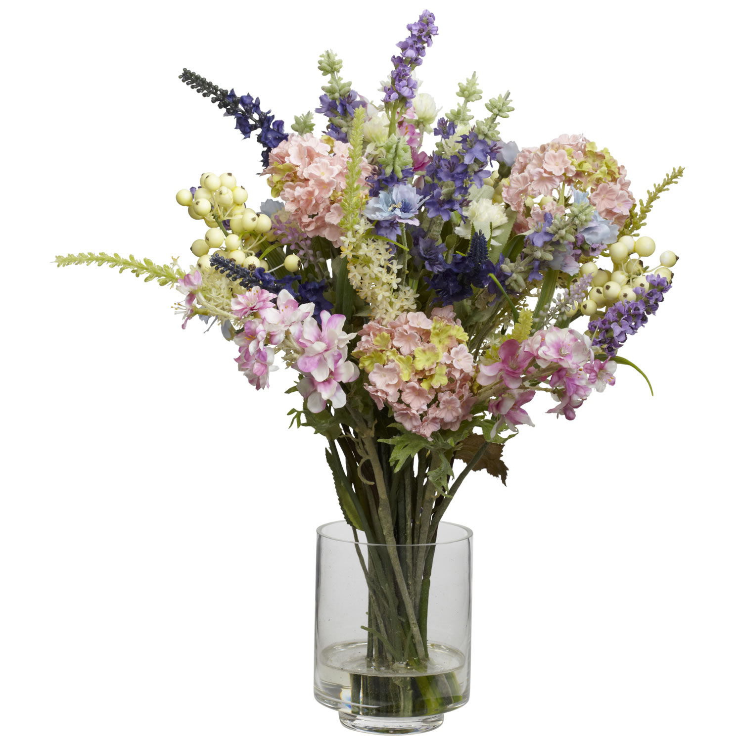 Lavender & Hydrangea Silk Flower Arrangement - Silk Specialties