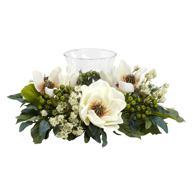 Magnolia Candelabrum Silk Flower Arrangement Silk Specialties