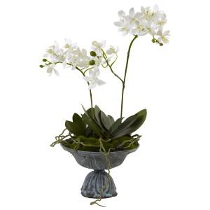 Mini Dendrobium w/Metal Vase