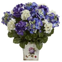 Mixed Hydrangea w/Floral Planter