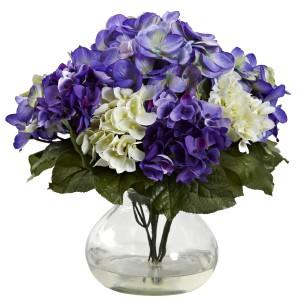 Mixed Hydrangea w/Vase