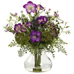 Mixed Morning Glory w/Vase