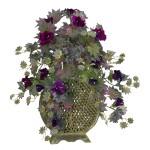 Morning Glory w/Decorative Vase Silk Plant