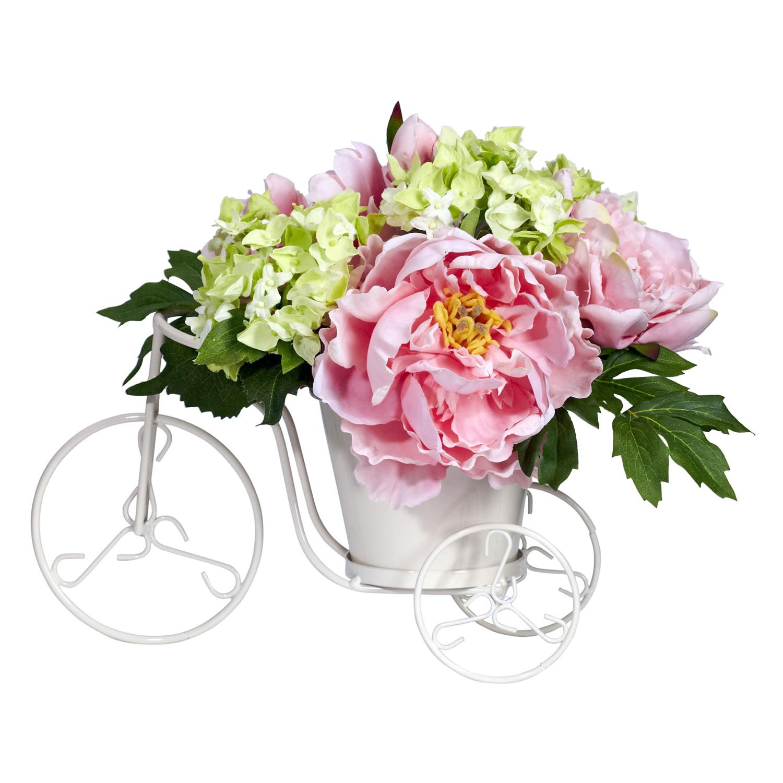 Peony Hydrangea Tricycle Silk Flower Arrangement Silk Specialties