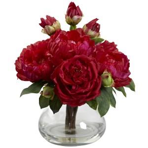 Peony & Rose w/Vase