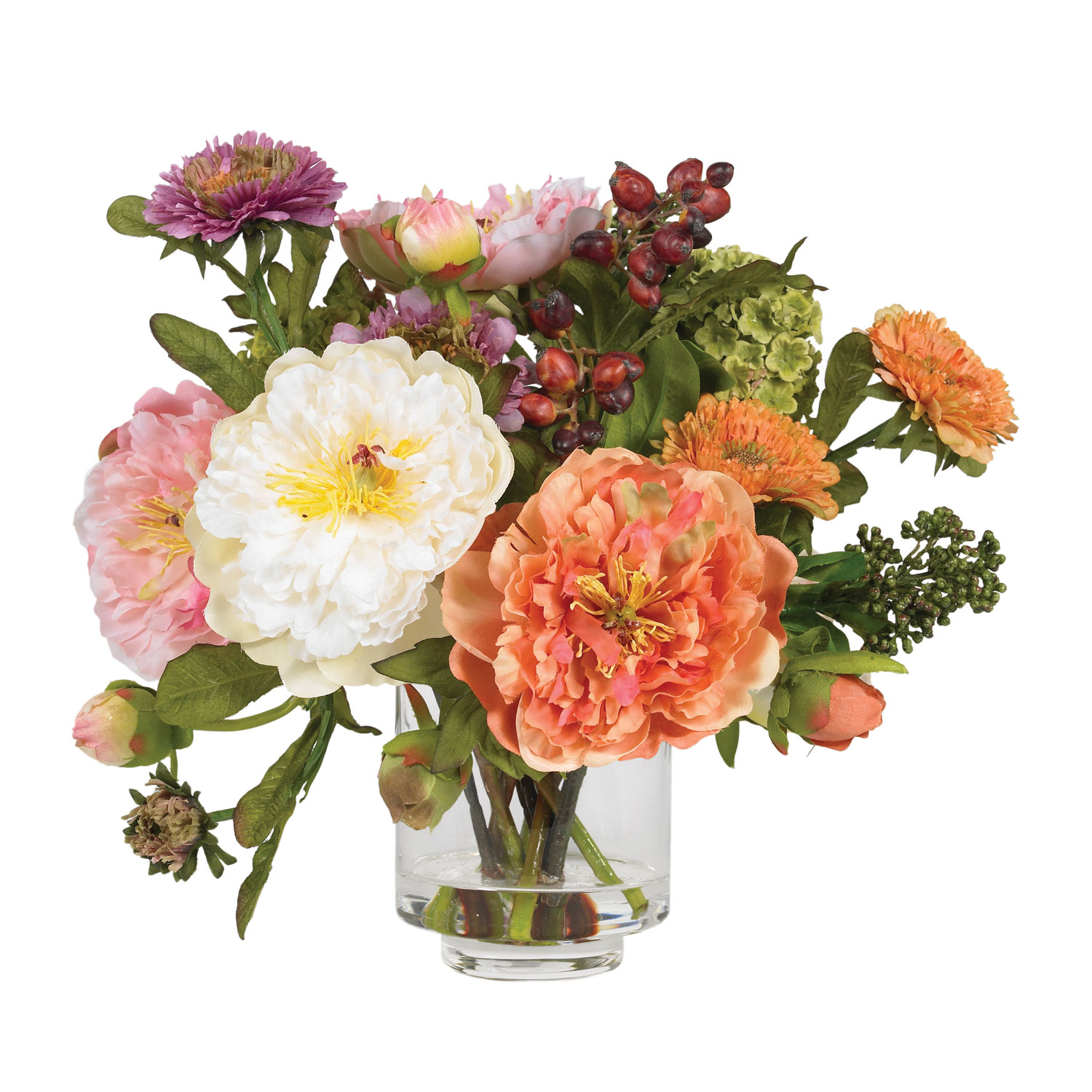 Peony silk flower arrangement silk specialties peony silk flower arrangement mightylinksfo