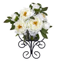 Peony Wall Silk Flower Arrangement