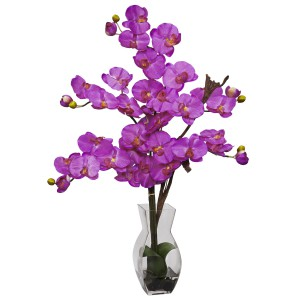 Phalaenopsis w/Vase Silk Flower Arrangement