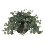 Puff Ivy w/Vase Silk Plant