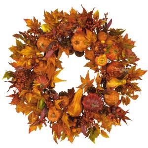 "Pumpkin Wreath 28"""