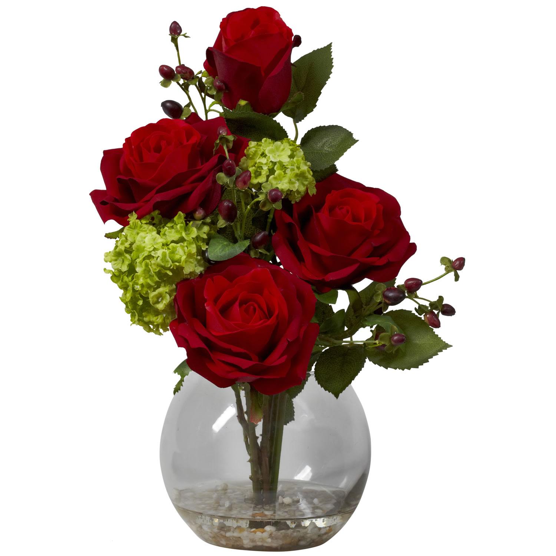 Rose hydrangea silk flower arrangement specialties