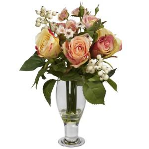 Rose w/Champagne Vase
