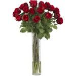 Rosebud w/Cylinder Silk Flower Arrangement