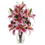 Rubrum Lily w/Decorative Vase
