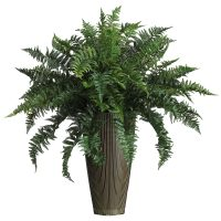 Ruffle Fern w/Vase Silk Plant (Indoor/Outdoor)