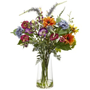 Spring Garden Floral w/Vase