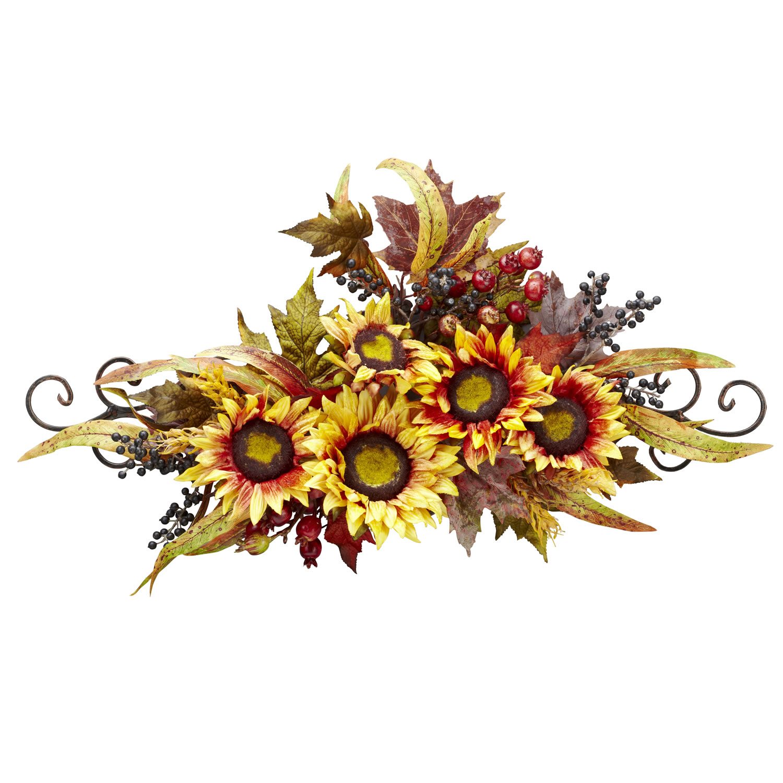 Sunflower Swag w/Metal Frame - Silk Specialties