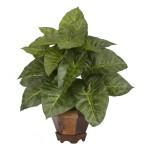Taro w/Vase Silk Plant
