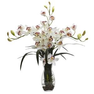 Triple Cymbidium Orchid Arrangement