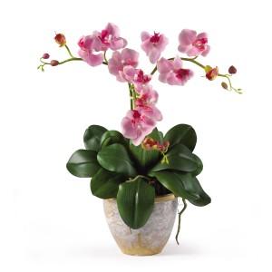 Triple Mini Phalaenopsis Silk Flower Arrangement