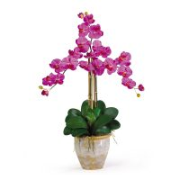 Triple Stem Phalaenopsis Silk Orchid Flower Arrangement