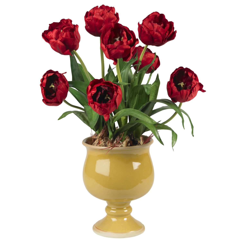 Tulips whoney vase silk flower arrangement silk specialties tulips whoney vase silk flower arrangement mightylinksfo