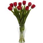 Tulips w/Vase Silk Arrangement