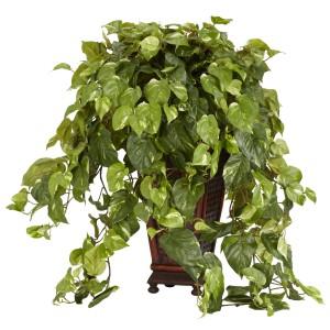 Vining Pothos w/Decorative Vase Silk Plant